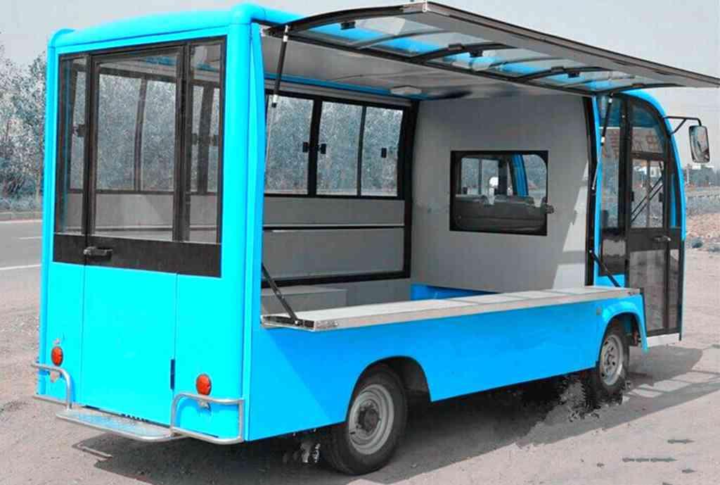 沃翔WX6153K电动车,售货车,流动电动餐车