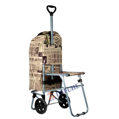 带凳超市购物车