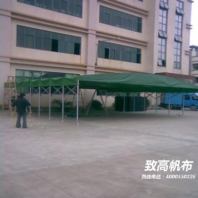 珠海四脚帐篷轮式法式折叠广告帐篷固定式夹网布帆布耐晒帆布加工信息