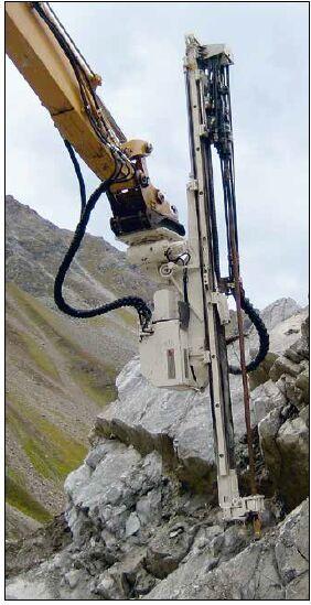 西藏挖掘机改装全液压凿岩机