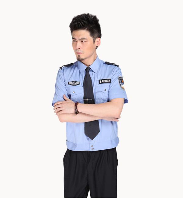 热销亿诚制服YCBA-001短袖衬衣保安服夏物业小区保安工作服套装