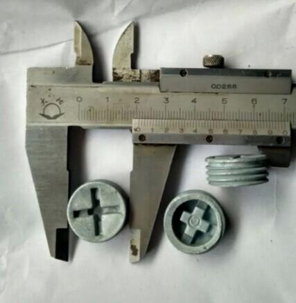 供应锌合金压铸,十字无头螺丝,1/2*14牙平头十字螺丝,外径2