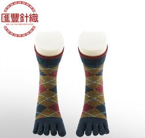 冬季加厚全棉五指袜