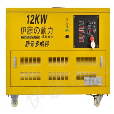 12KW天然气发电机多少钱