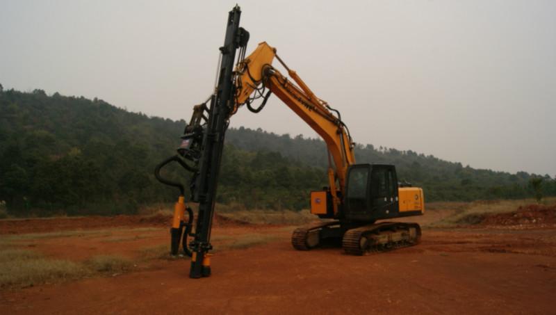 二手挖掘机改装液压凿岩机先进钻孔设备