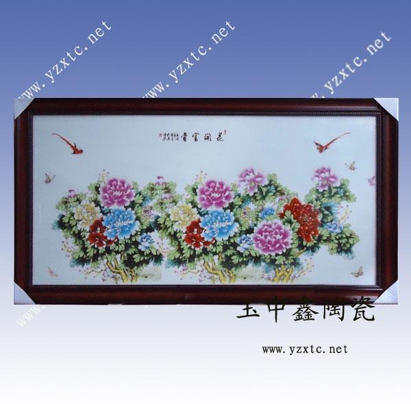 供应陶瓷瓷板画高档瓷板画粉彩瓷板画