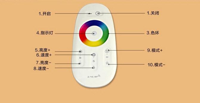 七彩触摸遥控方案/LED灯带控制方案/2.4GLED调光/无线方案