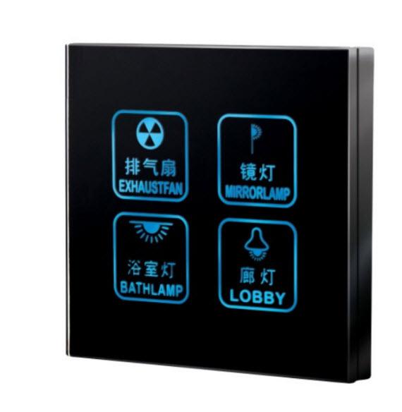 挂壁式触摸感应灯具开关方案开发 触摸屏安全便捷开关方案 家用电子门显开关方案