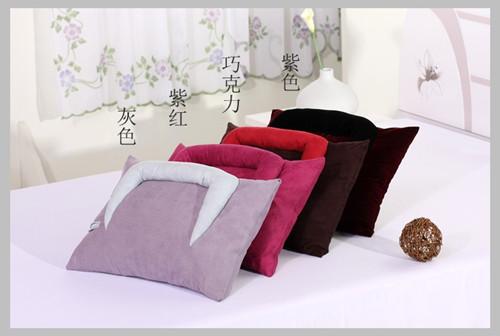 芸祥绣品多色麂皮绒阅读枕(带填充物)抱枕靠垫