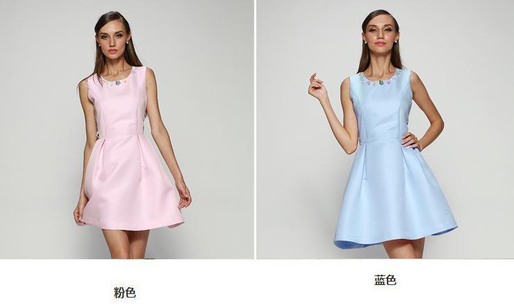 2015夏款欧美蕾丝不规则裙三件套娃娃裙 独家时尚高档连衣裙女,