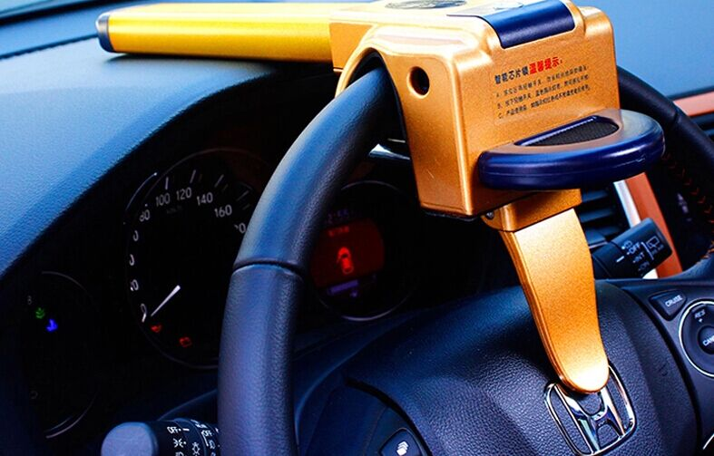 本田缤智智能芯片汽车防盗锁 方向盘锁 智能锁 智能感应芯片锁