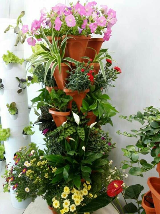 无土栽培蔬菜设备水培花架家庭阳台种菜自动立柱式特价包邮
