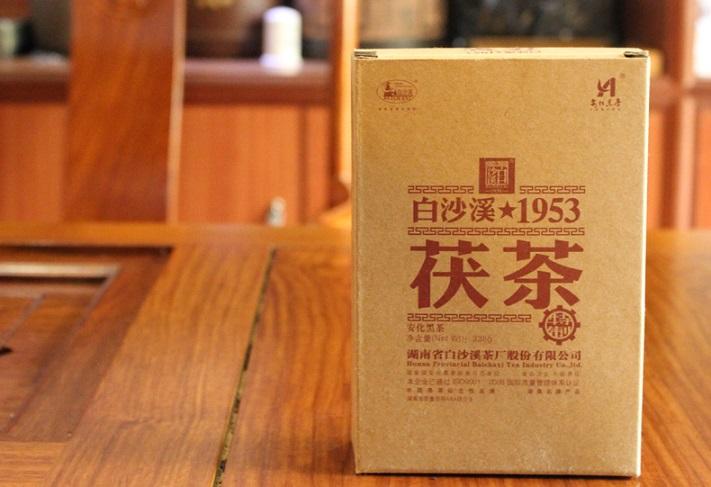 昌兴存茶:湖南安化黑茶,白沙溪茯砖茶338g特制茯茶