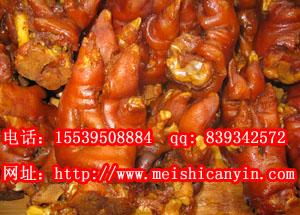 教卤肉做法卤猪蹄技术培训特色酱猪头肉配方
