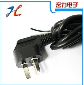 供应黑色环保插头电源线