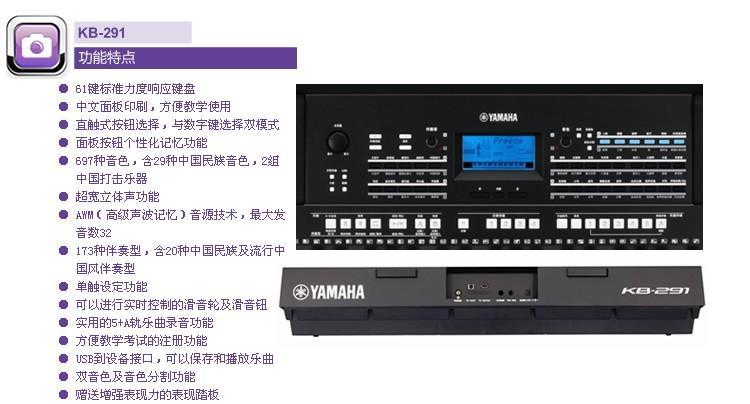 雅马哈YAMAHA-KB291电子琴