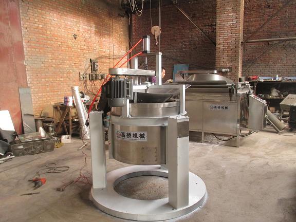 自动进出料变频调速控制不锈钢脱水脱油机