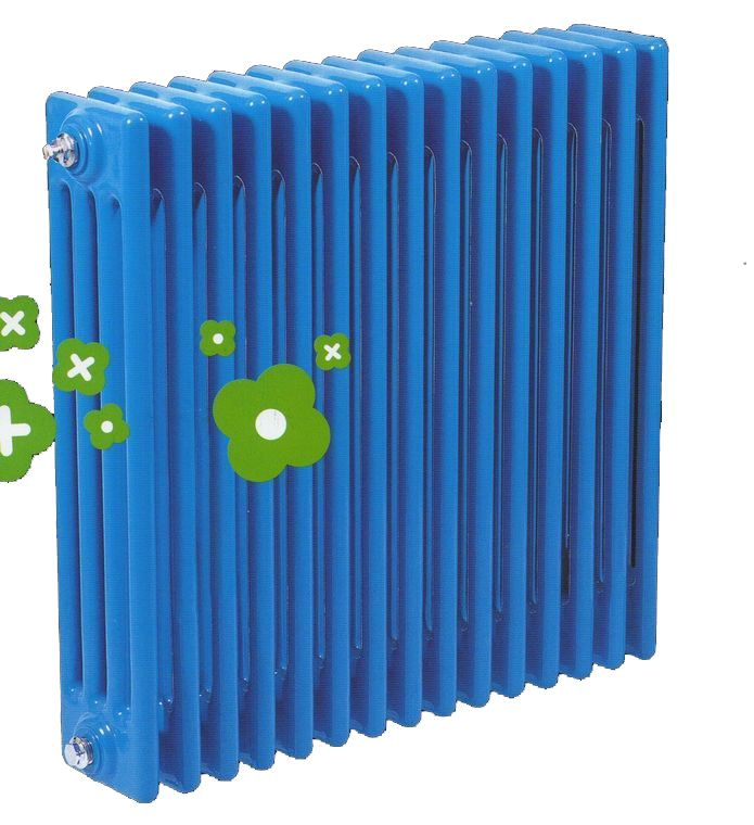 天津钢制柱式散热器价格  暖气片安装