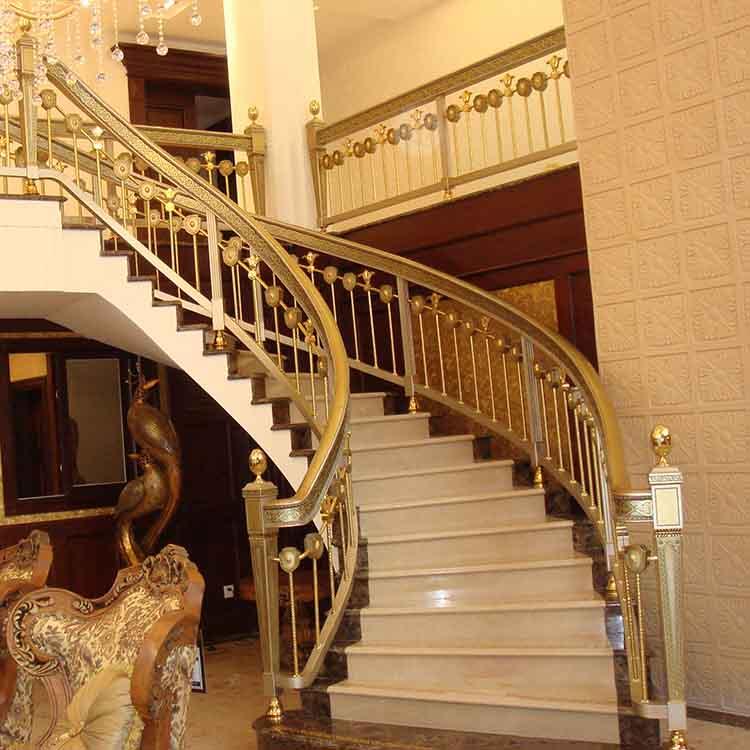 宁波|会所|纯紫铜|铜楼梯栏杆|铜护栏|铜立柱|厂家定制安装|新