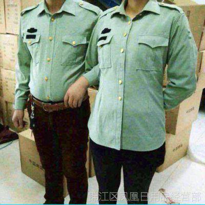 跑江湖地摊热卖 军绿色男女衬衣 长袖短袖衬衫