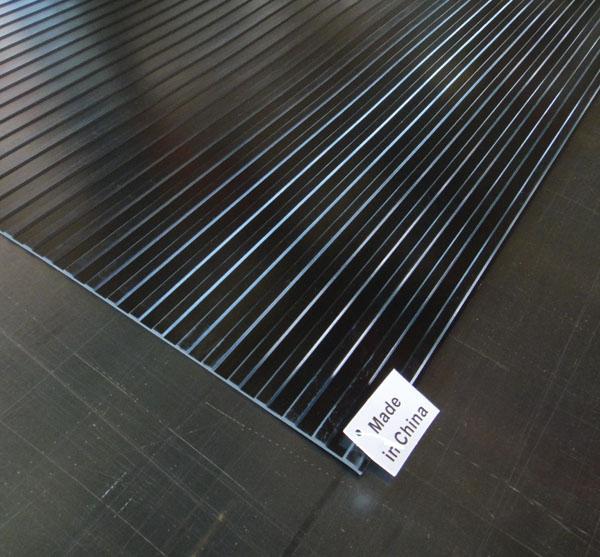 供应 宽条纹防滑橡胶板
