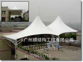 广州膜结构车棚 膜布膜材 景观棚
