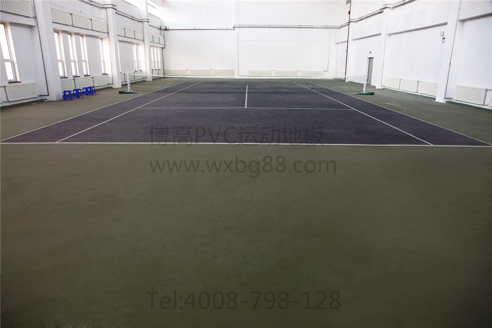 博高室内网球场PVC地胶,江苏网球场运动地板厂家