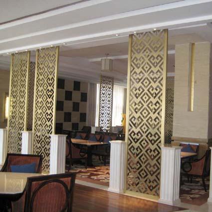 上海浦东|铜|屏风|隔断|玄关|花格|格栅|图片