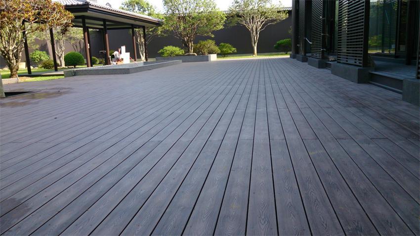 别墅花园地板效果图木质地板别墅图片3