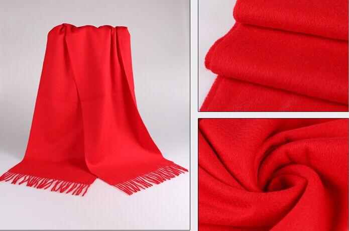 新款大红围巾 羊绒围巾 礼品围巾 围巾定制