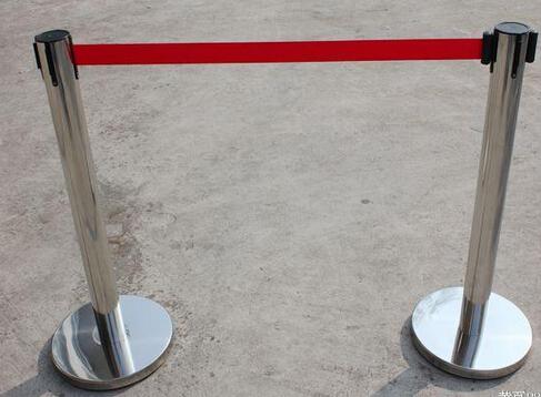 供应JSD型荧光式不锈钢伸缩带围栏/一米警戒线