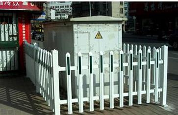 阻燃性户外变压器塑钢隔离围栏/高压危险警示围栏/阻燃塑钢围栏
