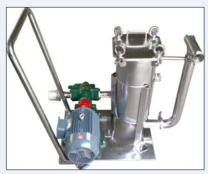 移动式带气动泵配套不锈钢过滤器-空压机提供气源