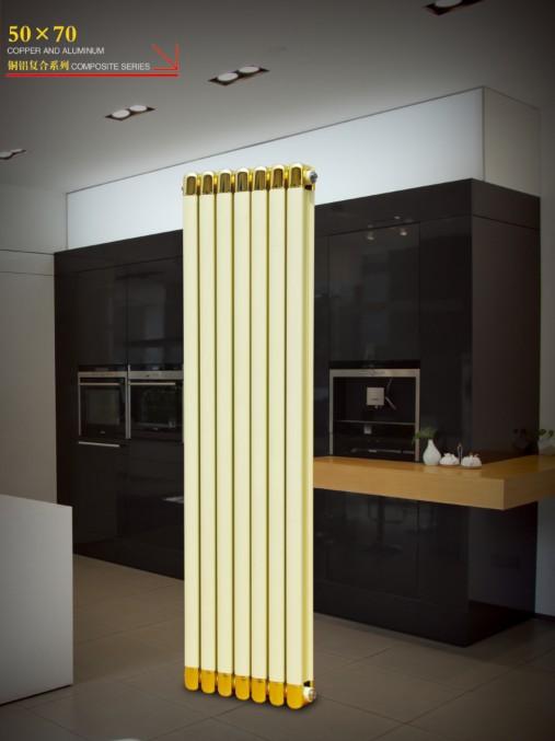 铜铝复合散热器暖气片:铜铝复合50x70散热器