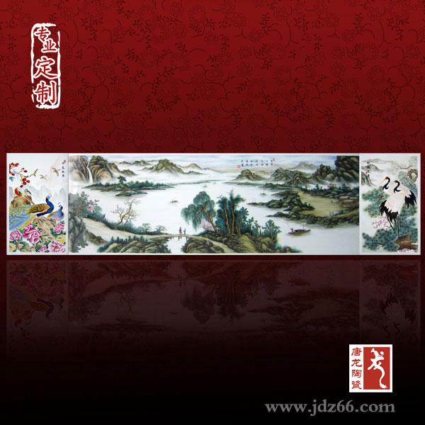 景点瓷板画 旅游纪念背景瓷板画