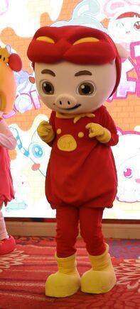 行走卡通人偶服装、舞台演出服装猪猪侠