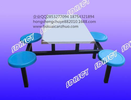 不锈钢桌面 快餐桌椅 不锈钢快餐桌