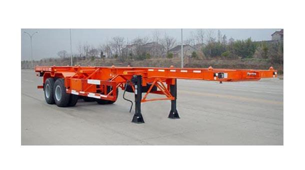 梁山半挂车厂家供应7.32米集装箱运输半挂车 (20英尺集装箱)