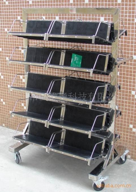 厂家批发防静电PCB挂篮车(含20挂篮),线路板周转架收集存放车