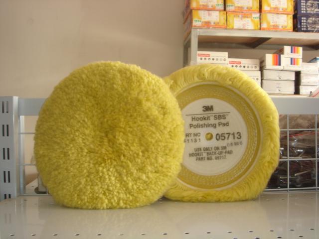 正宗进口3M羊毛球05713单面羊毛抛光盘
