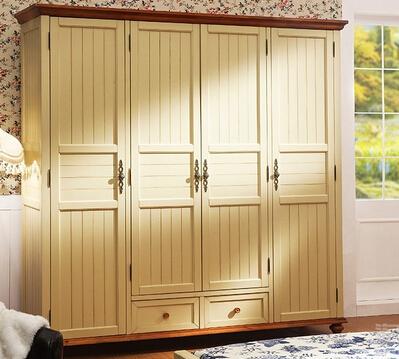 深圳淘美居时尚家居之卧室家具系列美式实木三门衣柜