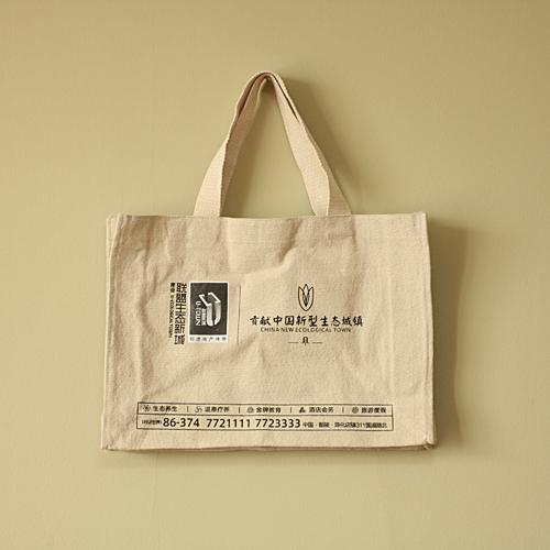 厂家定做外贸环保袋 手提束口袋 空白帆布拉链袋 定制购物礼品袋