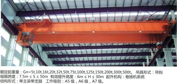QD    专业供应电动双梁桥式起重机 QD型桥式起重机 山东起