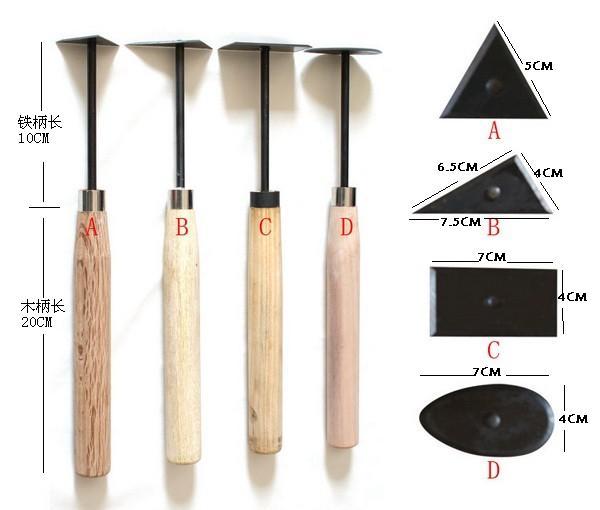 供应雕塑工具泥塑刀雷丝刀黑柄刮刀