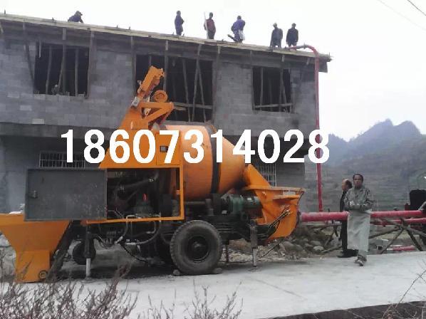 广西南宁混凝土输送泵搅拌车载泵拖式搅拌泵