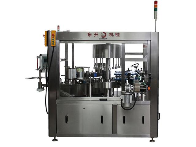 自动贴标机生产厂家-全自动平面贴标机-东升机械