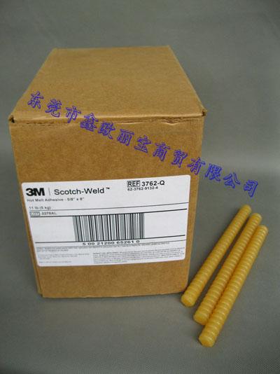 原装3M 3762Q热熔胶条/瓦楞纸包装箱/泡沫板/木材粘接胶条