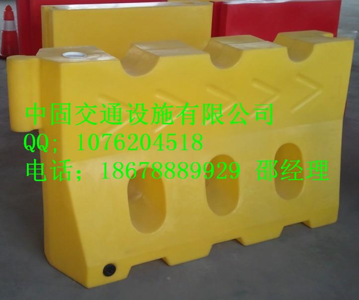 聊城塑料隔离墩批发厂家18678889929,东昌府水马厂