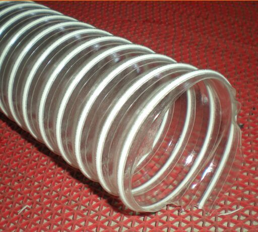 PVC透明钢丝吸尘管,白色塑筋吸尘管,木工纺织吸尘管