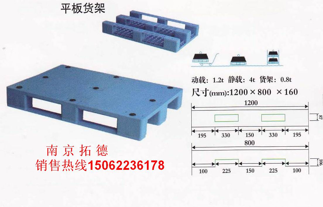拓德塑料托盘—平板货架系列
